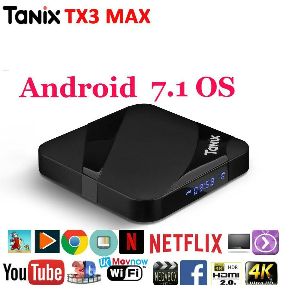 Smart TV Box Android 7.1 Tanix TX3 Max Amlogic S905W Media Player H.265 4K 2GB 16GB Bluetooth PK TX3 mini Set top Box tx3 max smart tv box android 7 1 set top box hdmi 2 0 h 265 4k media player amlogic s905w 2gb 16gb bluetooth pk x96 mini