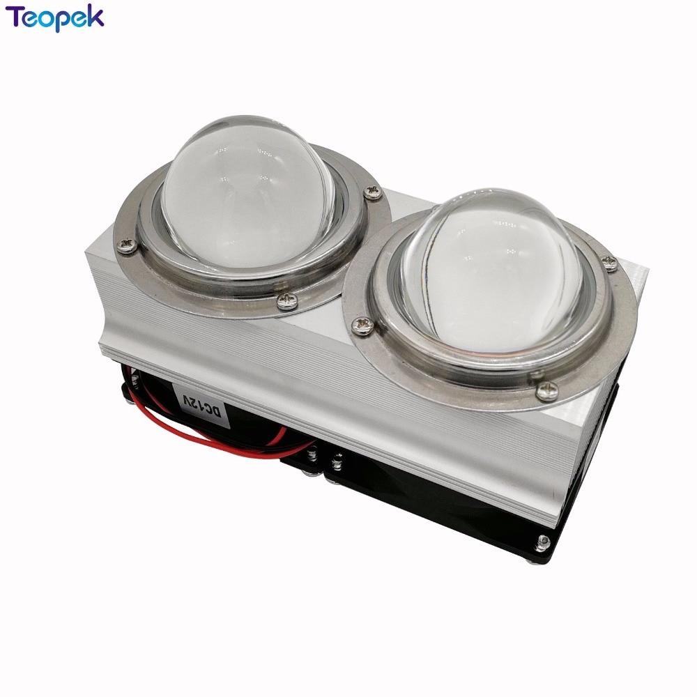 купить 100W-200w High Power LED Aluminium Heat Sink Cooling Fan with fans 44/57/66mm Lens Set Led Cooling System недорого