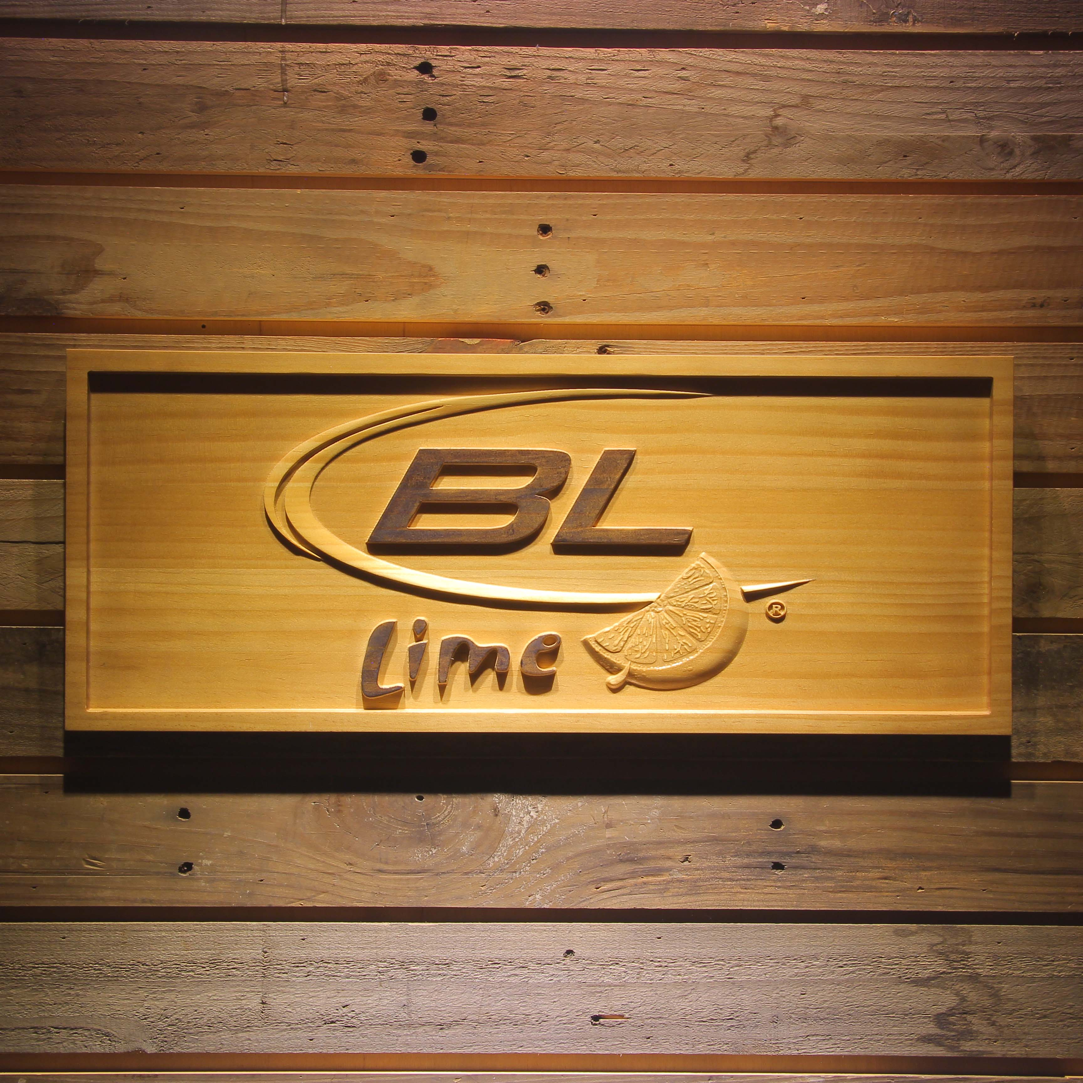 Bud <font><b>Light</b></font> Lime Beer 3D Wooden Bar Sign