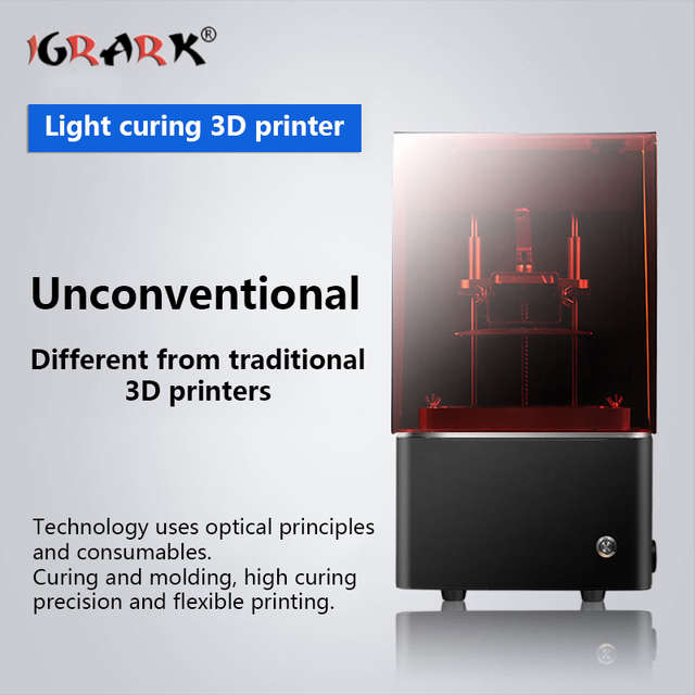 US $450 0 40% OFF|IGRARK 3D Printer Light Curing LCD/DLP Jewelry Hand  Dental Resin Desktop Light Curing 3d Printer-in 3D Printers from Computer &