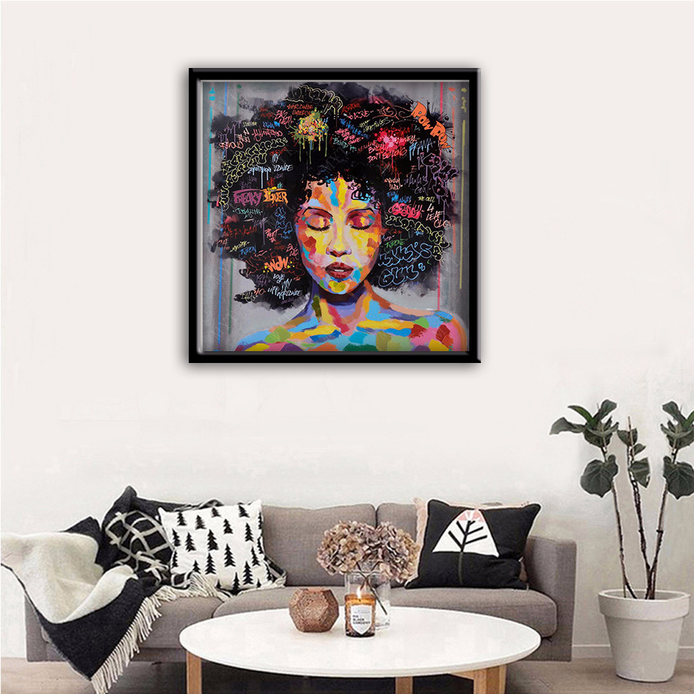 Graffiti Art Africa American Canvas Art Print Painting