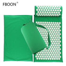 Acupressure Mat and Pillow Set Pin Pad, Yoga Mats and Fitness Massage Cushion