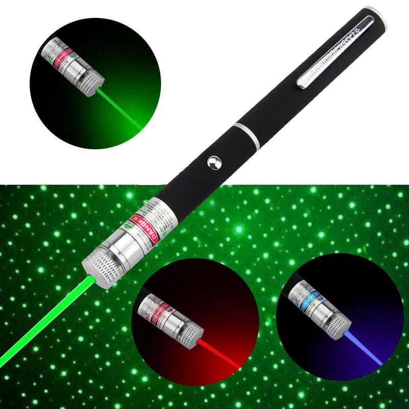 אדום/ירוק/סגול לייזר אור 1MW לייזר 532nm מצביע לייזר קרן אור כוכבים כוכבים לייזר עט לייזר אור