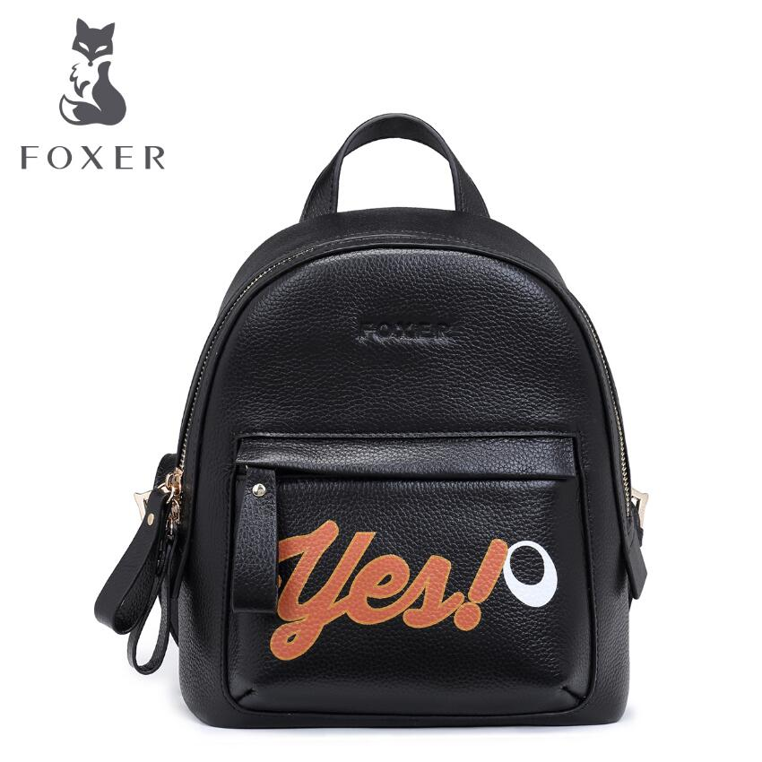 Women bag 2017 FOXER  New brand women genuine leather backpack fashion quality women cowhide leisure women backpack women bag 2016 new foxer brand women genuine leather backpack fashion quality women cowhide leisure wild student backpack