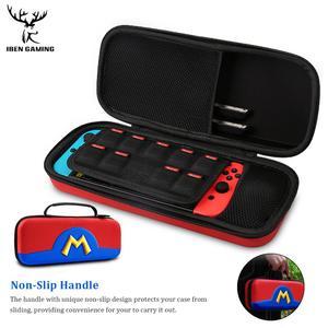 Image 2 - IBen Bolsa de almacenamiento portátil, Estuche de transporte de carcasa EVA para Nintendo Switch, accesorios resistentes al agua
