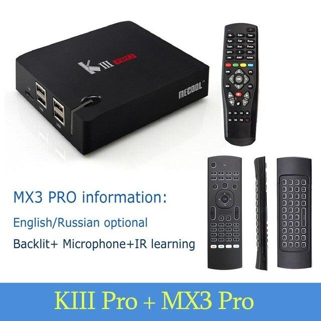 KIII PRO DVB-S2 & DVB-T2 & DVB-C & Android 7 1 TV Box Amlogic S912 Octa  Core 64 bit 4K Combo