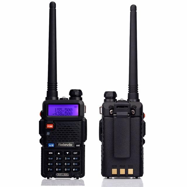 Mano walkie talkie retevis rt-5r 5 w 128ch uhf + vhf jamón doble banda de radio hf transceptor dtmf radioaficionados comunicador a7105a
