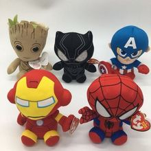 DC Marvel Plush Toys Avengers Superhero Plush Dolls Captain America Ironman Iron man Spiderman Hulk Plush Soft Toy Spider man new comics dc marvel slim wallet the avengers hulk iron man captain america purse logo credit oyster license card wallet
