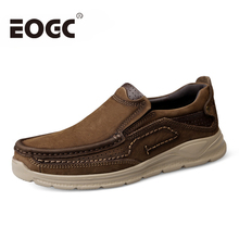 Full Grain Leather Men Shoes Cow Casual Male Top Quality Handmade Flats Fashion Platform