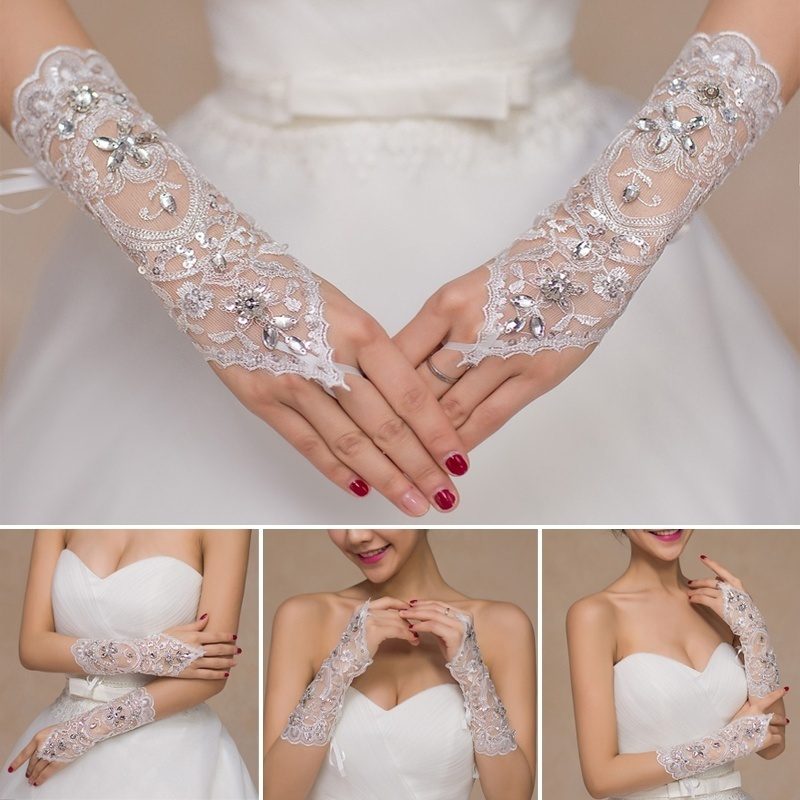 2019 New Wedding Accessories 1pair Cheap Wedding Dress Gloves For Novia Performance Studio Supplies Wedding Gloves Sposa