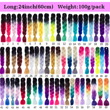 Ombre Synthetic Braiding Hair Extensions