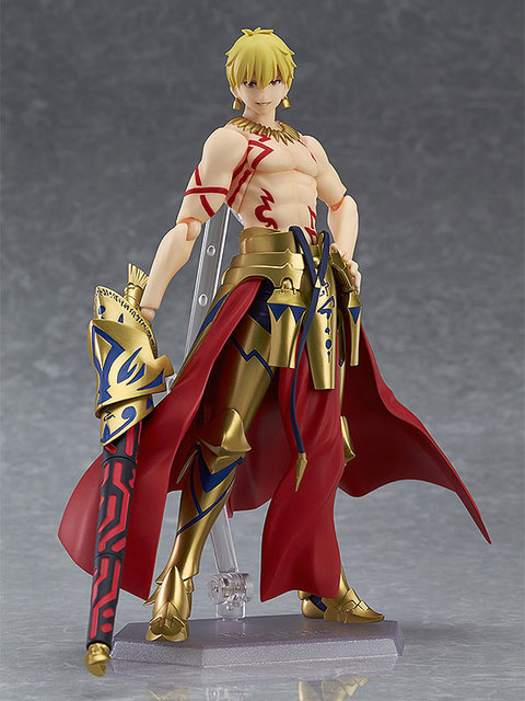 "Fate/stay Night figma 300# Fate Gilgamesh PVC Action Figure Collectible Model Christmas Gift Toy 5.5""15cm 3"