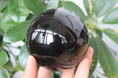 60mm NATURAL OBSIDIAN POLISHED SPHERE BALL HEALING