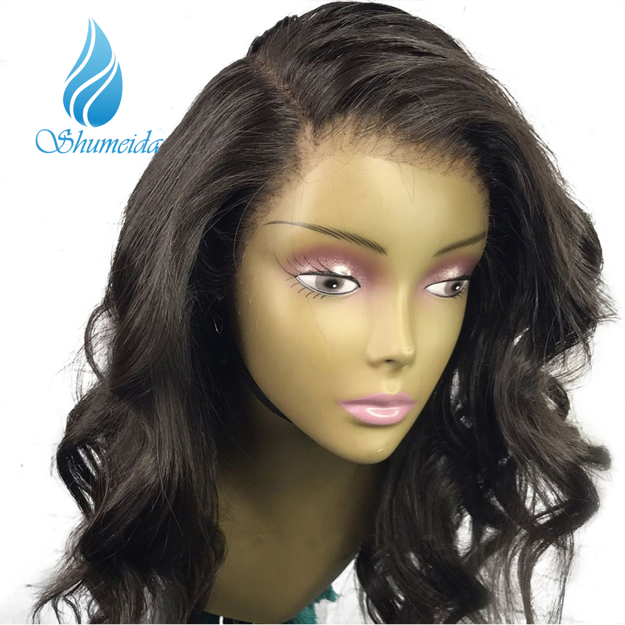 Shumeida 130 Loose Wave Full Lace Wigs Human Hair With