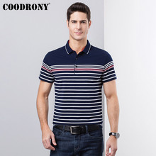 COODRONY Fashion Striped Tshirt Cotton T-Shirt Men 2019 Spring Summer Business Casual Short Sleeve T Shirt Plus Size S95120