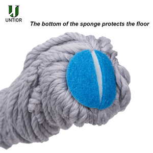 Image 3 - UNTIOR Microfiber Self twisted Spin Mop Magic Hand Free Washing Floor Cleaning Dust Mops With Removable Replace Mop head