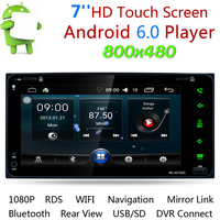 Android 6.0 7 Inch Touch Screen Car Stereo Aut MP5 2 Din Wifi Car Multimedia DVD Player Bluetooth GPS Navigation AM/FM/RDS Radio