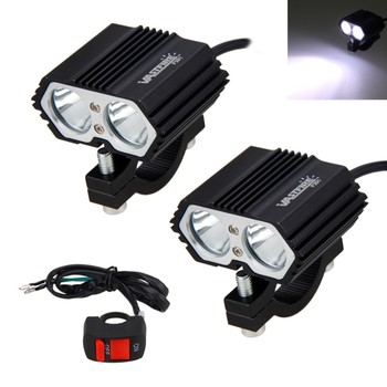 2PCS 30W 5000LM Motorcycle Headlight Spot light 2x XM-L T6 LED Fog Driving Lamp with Switch 1