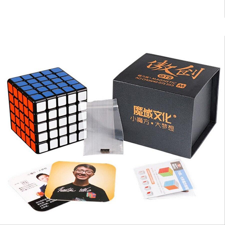 MoYu Aochuang GTS M 5x5 cube magique magnétique cube de vitesse compétition professionnelle magico cubo jouets éducatifs pour enfants YJ8263