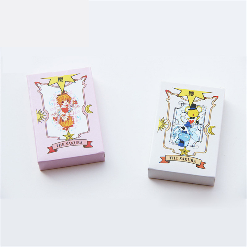New Cardcaptor Sakura 52pcs Poker Cards Captor Sakura Game Collection Cards Mahou Clow Anime Cards Props Best Xmas gifts
