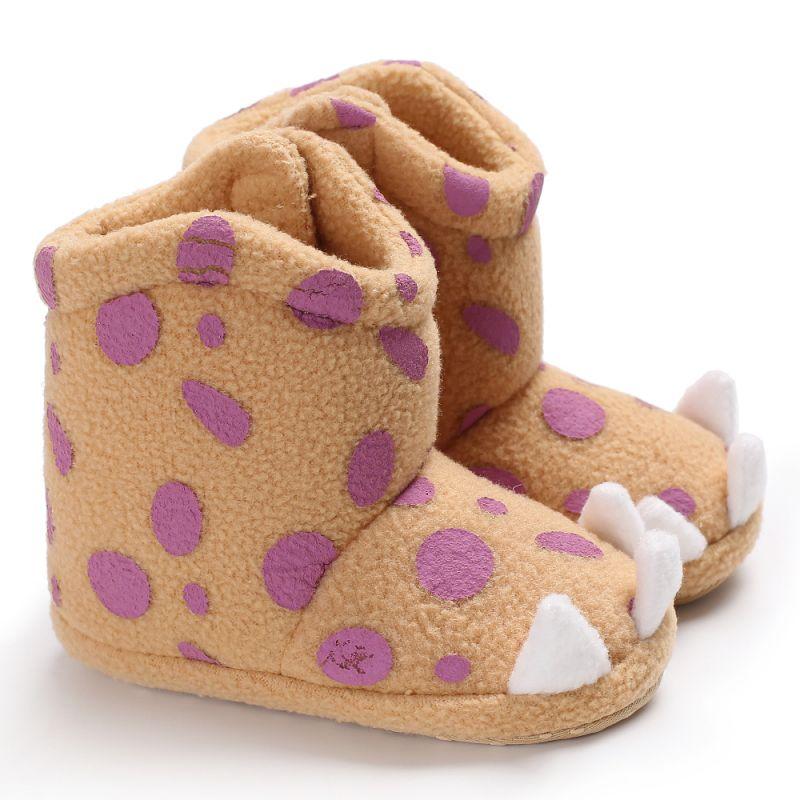 Baby Shoes Winter Bebek Ayakkabi Baby Girls Boys Newborn Shoes Cute Animal Paws Soft Bottom Anti-slip First Walkers