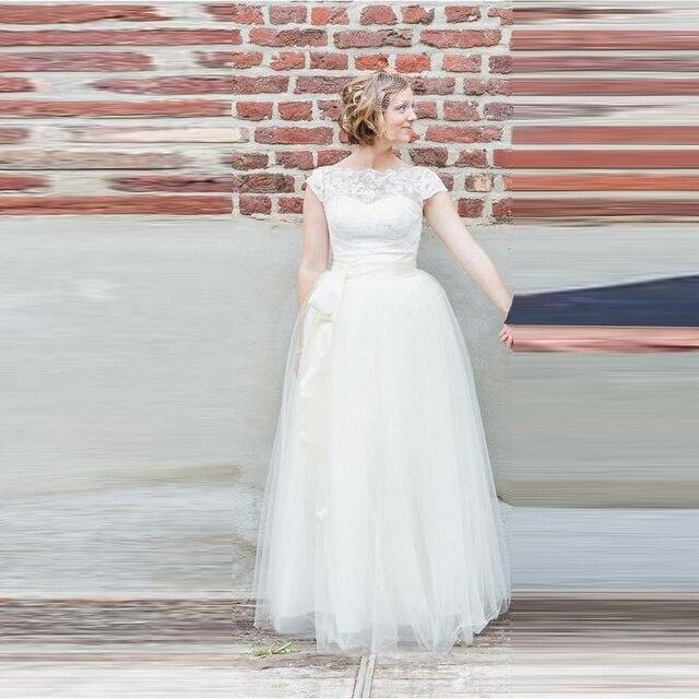 e08f91172 € 28.92 |Blanco elegante Falda larga Cintas cintura una línea piso longitud  Maxi falda personalizado tulle adultos Faldas mujeres en Faldas de La ...