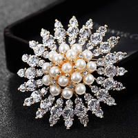 Perfect Women Wedding Pearl Brooches Jewelry Women S Fashion Rhinestone Crystal Hijab Pins And Broach Christmas