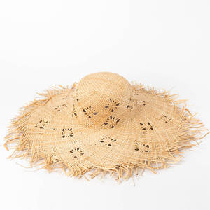7ac33fc8 muchique Ladies Wide Brim Sun Summer Beach Raffia Straw Hat