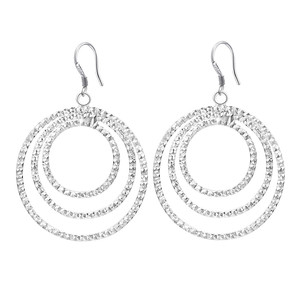 wholesale fashion silver color earrings high quality elegant cute women Charms wedding classic jewelry Round lovly gift LE054