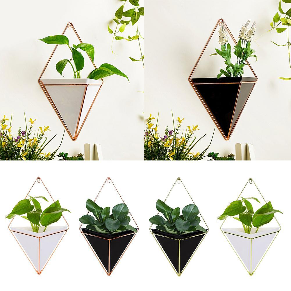 Gekwalificeerd Geometrische Thuis Bloempot Vetplant Vaas Muur Decors Met Opknoping Houder Rijden Met Een Brullende Handel