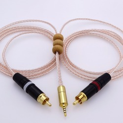 1m 2.5mm TRRS TO 2 RCA Audio Adapter Cable For Astell&Kern AK100II, AK120II, AK240, AK380, AK320, DP-X1, FIIO X5III, XDP-300R