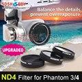 Sunnylife nd4 dimmer nd-4 filtro de la lente para dji phantom 4 3 profesional microscopía de luz \ avanzada \ estándar