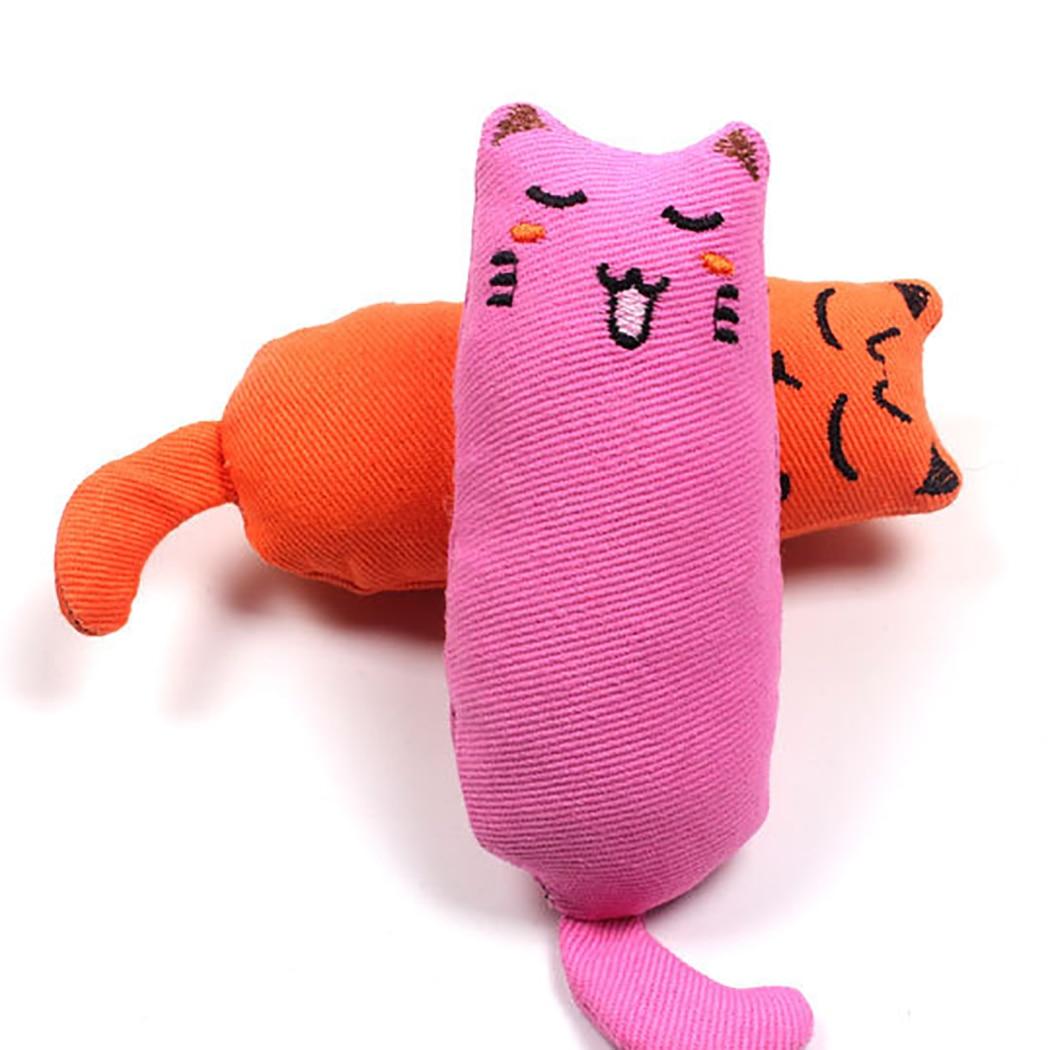 Pluche kat vriendje oranje en paars