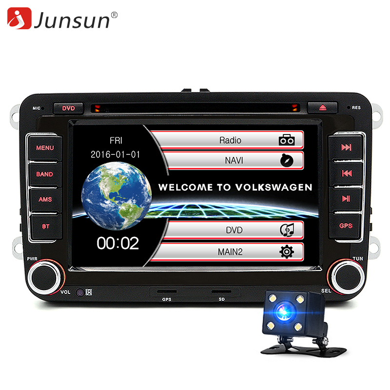junsun 7 2 din car dvd gps radio stereo player for. Black Bedroom Furniture Sets. Home Design Ideas