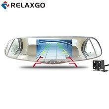 """Relaxgo 5 """"Зеркало заднего вида автомобиля Камера Full HD 1080 P WDR видео Регистраторы Видеорегистраторы для автомобилей Двойной Камера парковка регистраторы автомобиля черный ящик"""