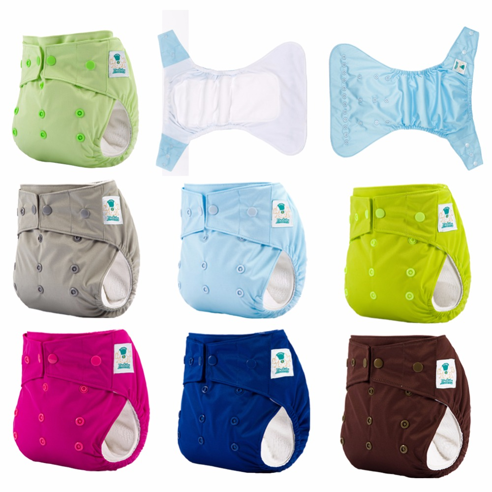 JinoBaby Superdry Aio Cloth Diapers One Size Reusable Nappies Baby Fits For Newborn To Toddler (3kgs To 15kgs)