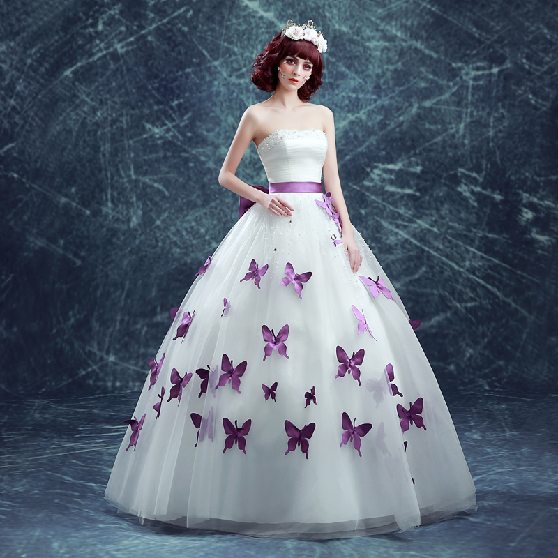 Online get cheap purple wedding gown for Cheap lavender wedding dresses