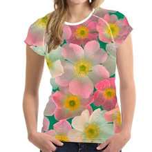 NoisyDesigns Women t shirt Flower Design T-shirts Floral Fresh Style Tops Colorful Floral Tees Harajuku shirts Camiseta feminina(China)