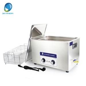 Image 5 - Skymen 2 30L 600W Ultrasone Reiniger Bad Injector Motor Auto onderdelen Medische Lab Ultrasone Reinigingsmachine Pcb Cleaner Wassen