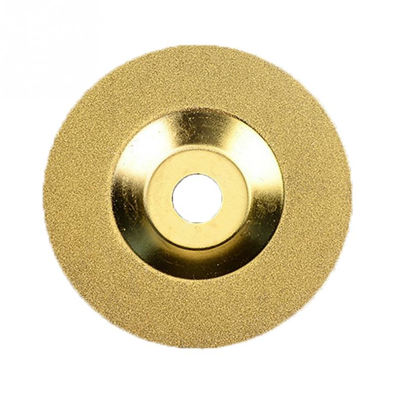 Electrical Cutting Disck 100mm Sliver/Gold Diamond Coated Wheel Disc Glass Stone Grinding Cutting Tools For Angle Grinder