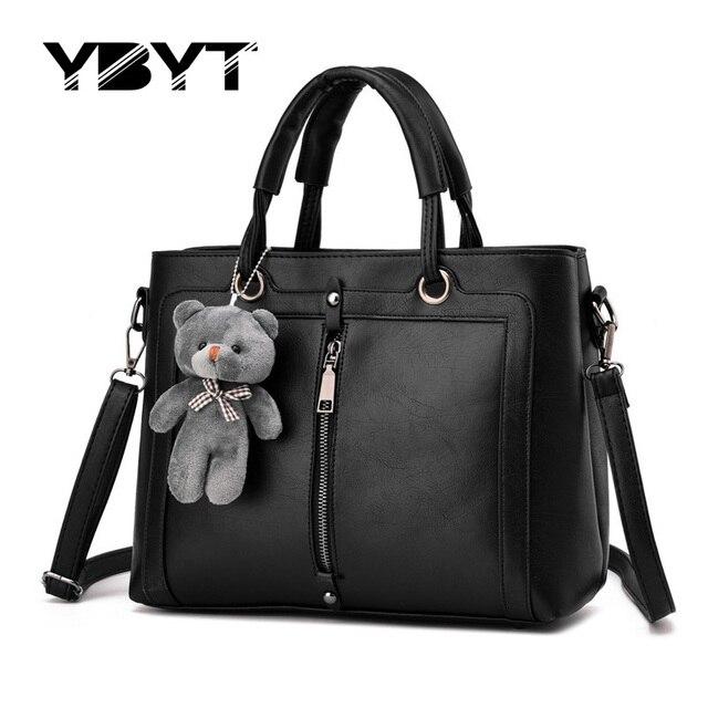YBYT brand 2017 new fashion formal women briefcase handbags hotsale lady PU leather office bag shoulder messenger crossbody bags