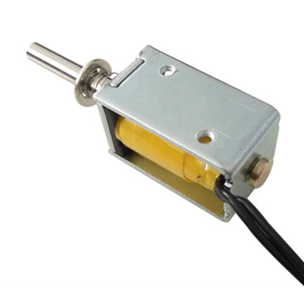DC 24V Push-Pull Open Frame Electric Solenoid Valve Actuator Electromagnet 10mm