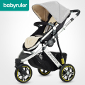 Free Shipping Luxury Baby Stroller High Landscape Portable Folding Carriage For United State Buyer