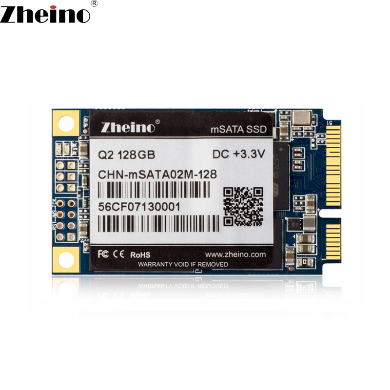 Zheino Q2 MSATA 128 ГБ SSD SATA3 128 М Кэш Внутренний твердотельный диск 2D MLC флэш-жесткий диск для мини-ноутбук Планшетные ПК PC