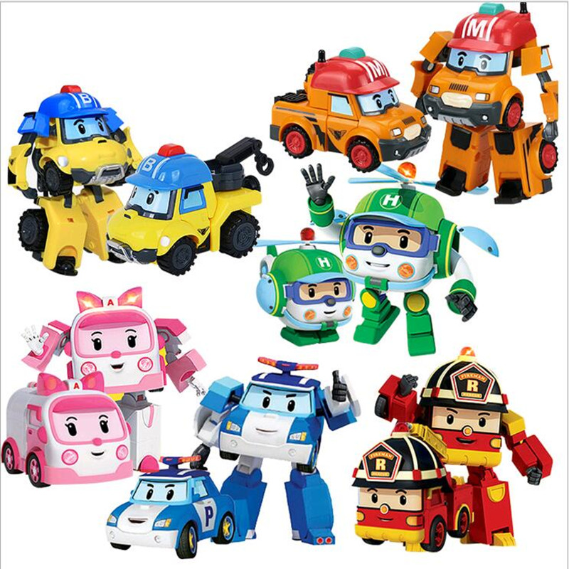 Buy 6pcs set robocar poli transformation - Robot car polly ...