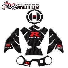 Мотоцикл 3D углеродного волокна Танк рыбья кость декоративные наклейки подходят для Suzuki GSXR 600 750 1000 K1 K3 K4 K5 K6 K7 K8 K9