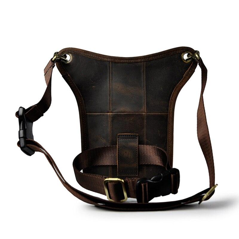 Norbinus 100% sac à bandoulière en cuir véritable pour hommes sac à taille en cuir véritable sac à bandoulière décontracté pour hommes-in Taille Packs from Baggages et sacs    2