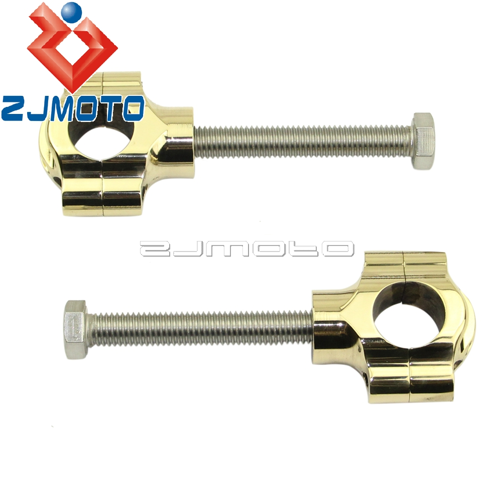 High Quality Motorcycle Brass 1 Handlebar Risers 1 inch Rough Crafts Handle Bar Risers For Harley