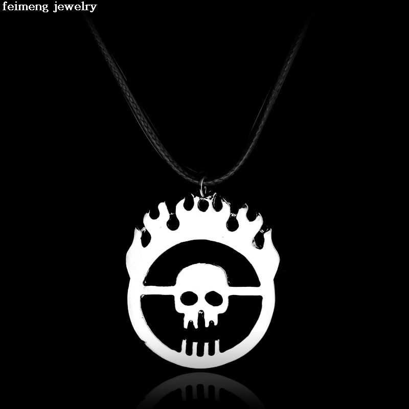2017 Wholesale 20pc/lot Mad Max Fury Road War Immortan Joe Burning Skull Faction Hollow Logo Pendant Necklace Men Jewelry
