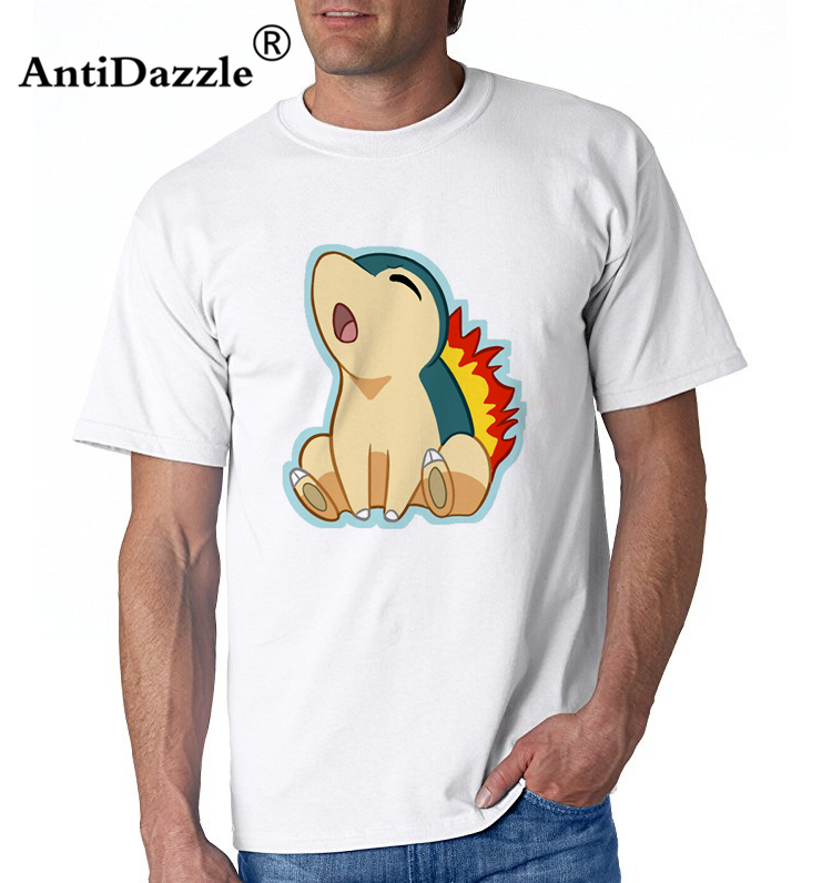8ac6017c Men's Fashion Geek Tee Pokemon Cyndaquil Fire Mouse Youth Natural Cotton  Short Sleeve T Shirts Discount Funny Tee Shirts-in T-Shirts from Men's Clothing  on ...